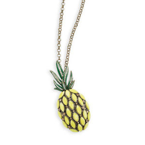 Canary Yellow, Pineapple Pendant Necklace